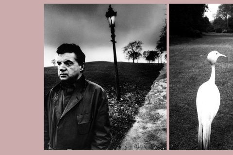 Links: Francis Bacon in Primrose Hill, London, 1963.  / Rechts: Nachmittag in Kew Gardens, 1932