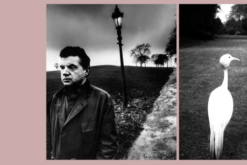 Left: Francis Bacon on Primrose Hill, London, 1963.  / Right: Evening in Kew Gardens, 1932