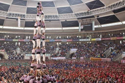 Castells (human towers) competition in Tarragona