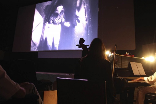 Film concert session of the film The Golem at the Jove International Film Festival