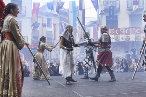 The famous Ambaixades (symbolic representation of the clash of two cultures that led to brotherhood between the two sides) at the Festival of Moors and Christians in Ontinyent