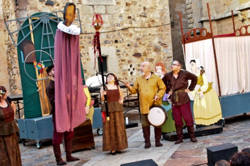 One of the performances during the Classical Theatre Festival in Cáceres