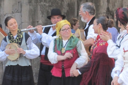 Traditional Galician folk music group in the Fiestas of San Froilán