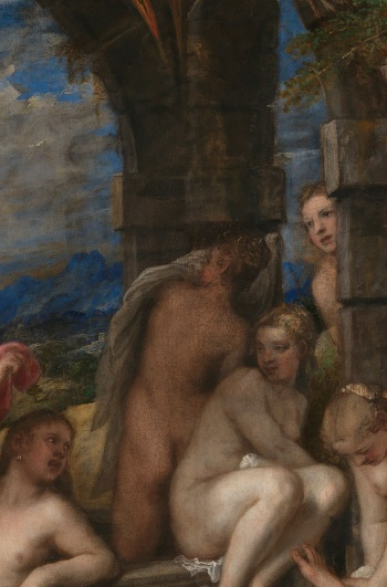 Diana and Actaeon, Titian. The National Gallery, London. Bought jointly by the National Gallery and National Galleries of Scotland with contributions from the Scottish government, the National Heritage Memorial Fund, the Monument Trust, the Art Fund (with a contribution from the Wolfson Foundation), and through private appeal and bequests, 2009