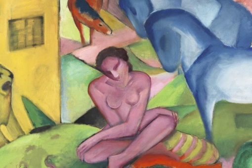 Franz Marc. The Dream, 1912 (detail).  Thyssen-Bornemisza Museum, Madrid.
