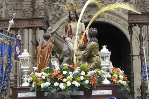 La Borriquilla Procession on Palm Sunday during Easter Week in Logroño (La Rioja)