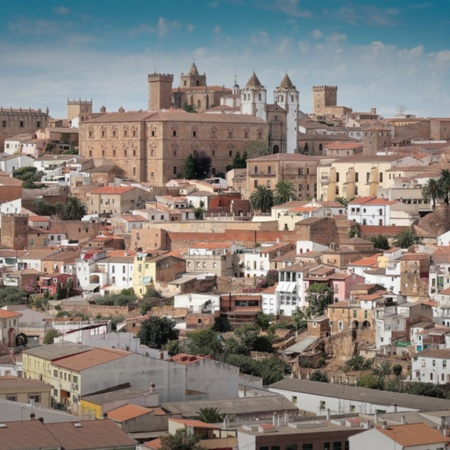 General view of Cáceres, Extremadura