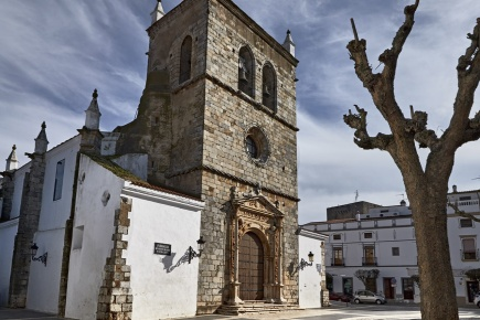 Church of Santa María Magdalena in Olivenza, Badajoz (Extremadura)