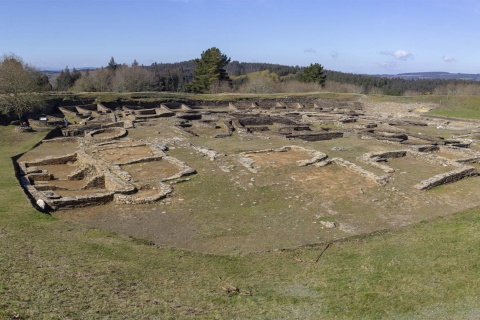 The archaeological site of Castro de Viladonga in Castro de Rei (Lugo, Galicia)