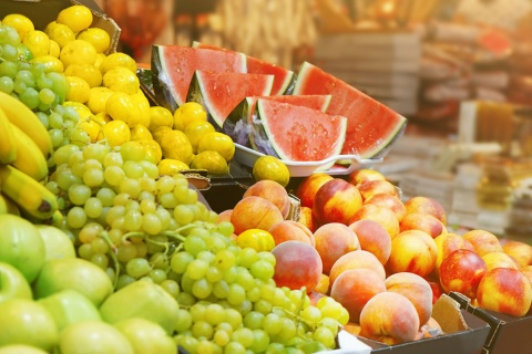 Fresh fruit in a market