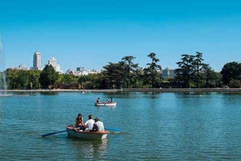 Lake in the Casa de Campo Park, Madrid