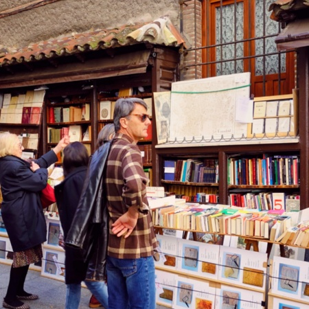 The hundred-year-old San Ginés bookshop in Madrid