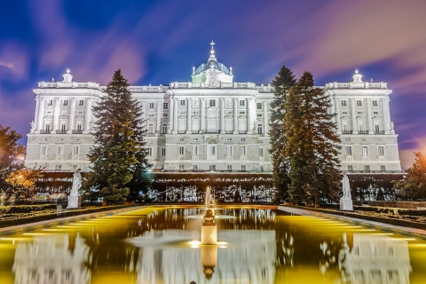 Exterior of the Royal Palace in Madrid