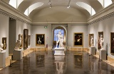 Hauptgalerie im Prado-Nationalmuseum in Madrid