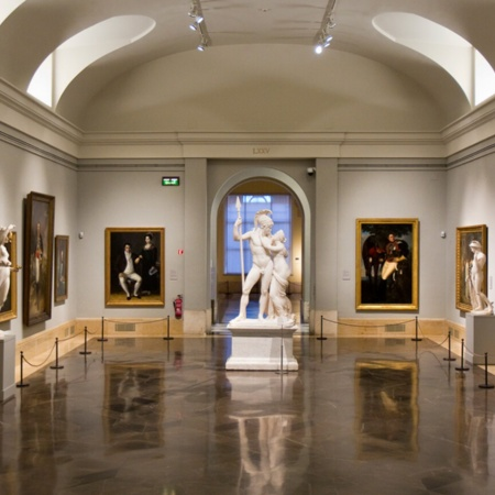 Central gallery of the Prado Museum in Madrid