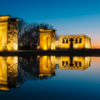 The Temple of Debod in the Parque del Oeste