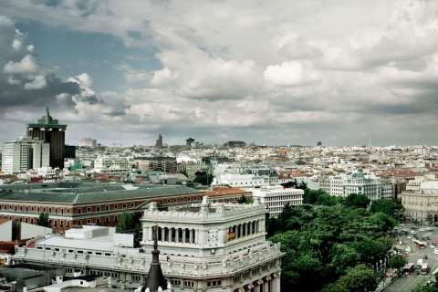 View from the rooftop terrace in the Círculo de Bellas Artes in Madrid