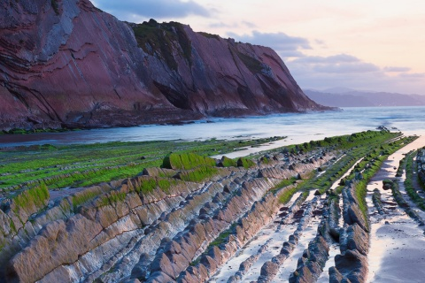Flysch cliffs in Zumaia