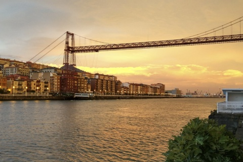 The famous Bizkaia Bridge in Portugalete (Bizkaia, the Basque Country)