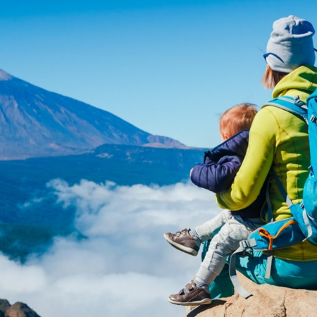 Family in Teide National Park
