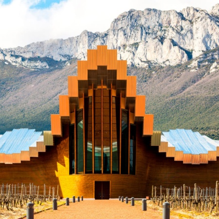 Bodegas Ysios winery in La Guardia. Santiago Calatrava