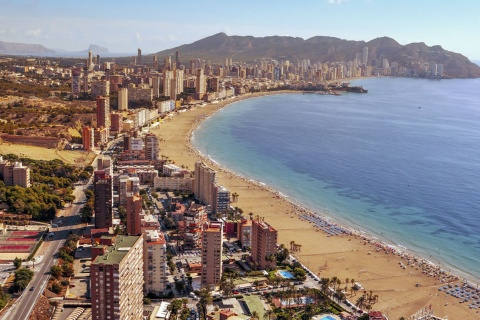 View of Benidorm (Alicante, Valencian Community)