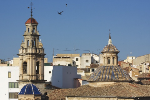 View of Ontinyent in Valencia (Valencian Community)
