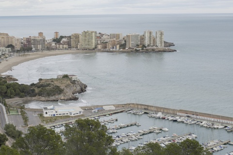 Panoramic view of Oropesa del Mar (Castellón, Valencian Community)