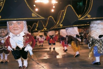 The traditional Dance of the Dwarves at the five-yearly fiesta of La Bajada (Santa Cruz de la Palma, Canary Islands)