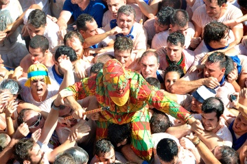 The traditional fiesta of the Cipotegato in Tarazona (Zaragoza, Aragon)