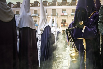 Censer in the Plaza Mayor square in Ocaña during Easter Week