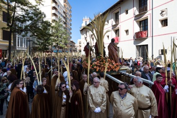 Palm Sunday procession during Easter Week in Gandía (Valencia)
