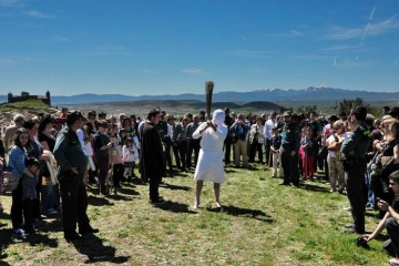 Flagellants in the Stations of the Cross procession during Easter Week in San Vicente de la Sonsierra (La Rioja)