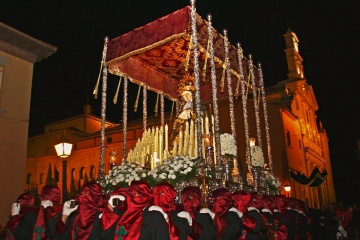 Procession of the Virgin of Sorrows during Easter Week in Calahorra (La Rioja)