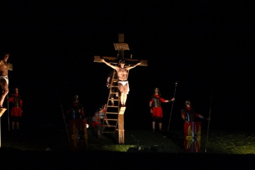 Dramatic scene during Easter in Calahorra (La Rioja)