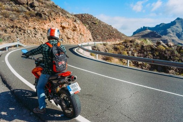Motorcycle, the Canary islands