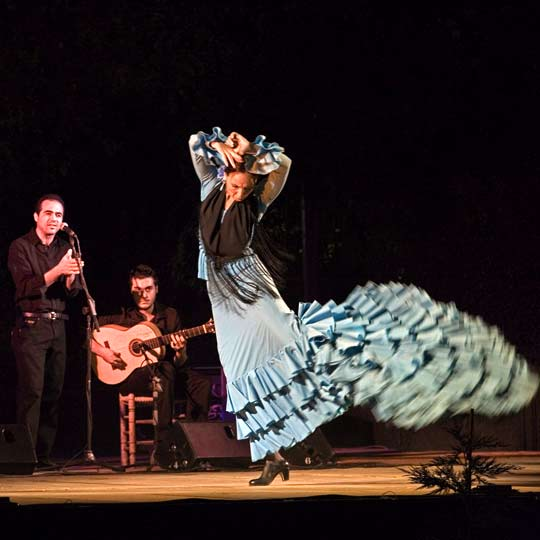 Flamenco show during the Noche Blanca del Flamenco (All-night Flamenco Festival) in Córdoba