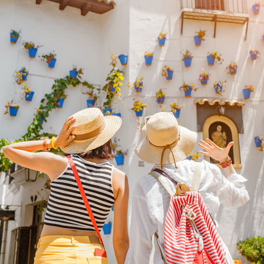 Tourists on a street in Córdoba