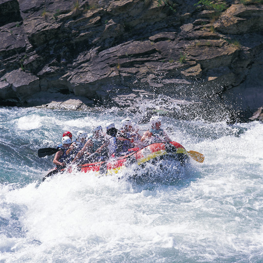 Rafting on the river Gállego