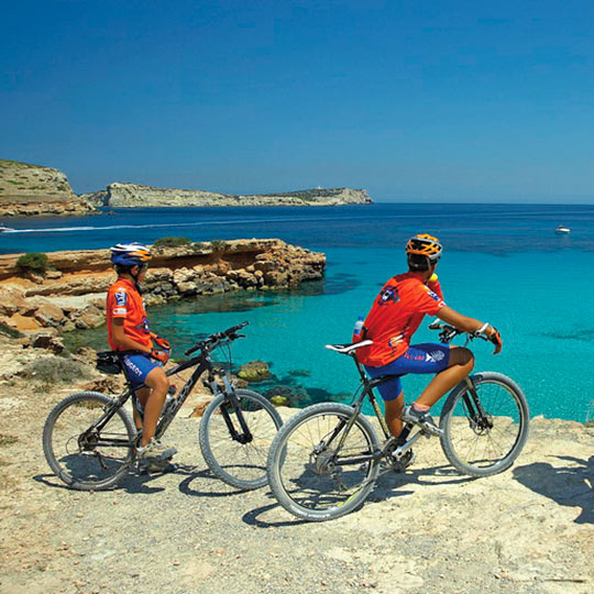 Bicycle touring in Menorca.