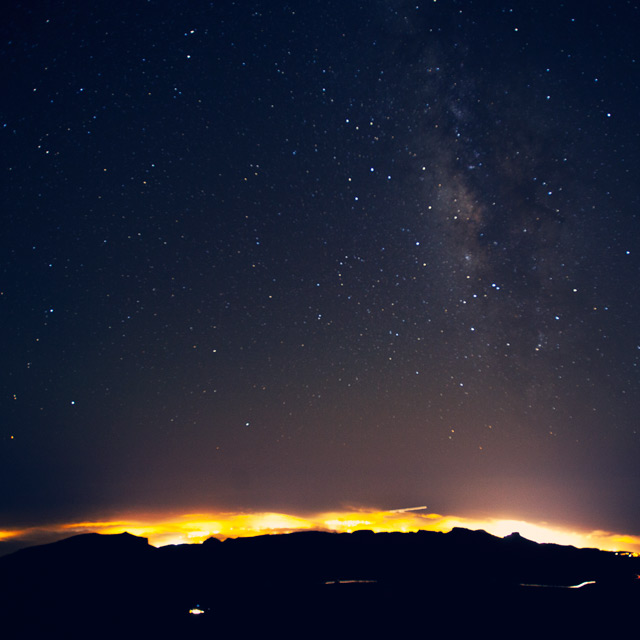 A starry night sky in Tenerife