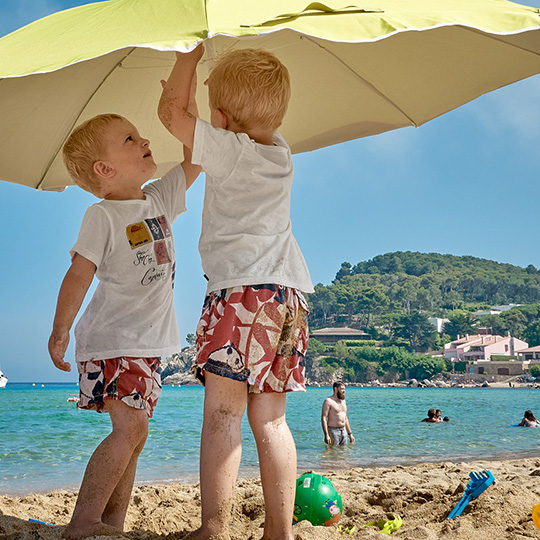 Children in Cala de la Fosca, Girona