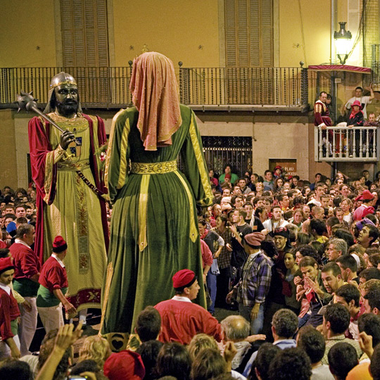Giants in the fiesta of La Patum in Berga