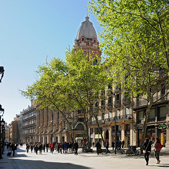 Barcelona shopping area