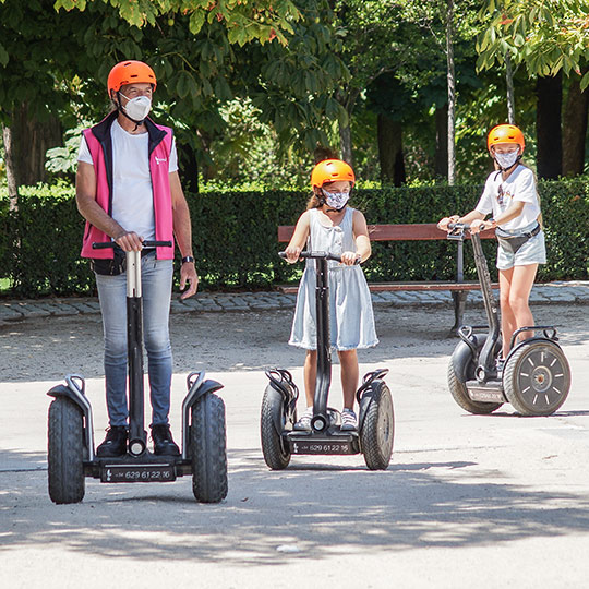 Sightseeing on a Segway in Madrid