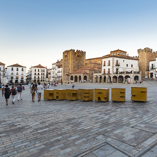 Plaza Mayor di Cáceres, Estremadura