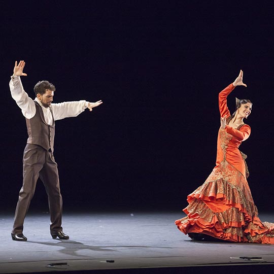 Flamenco performance by the Spanish National Ballet at the 64th Music and Dance Festival in Granada.