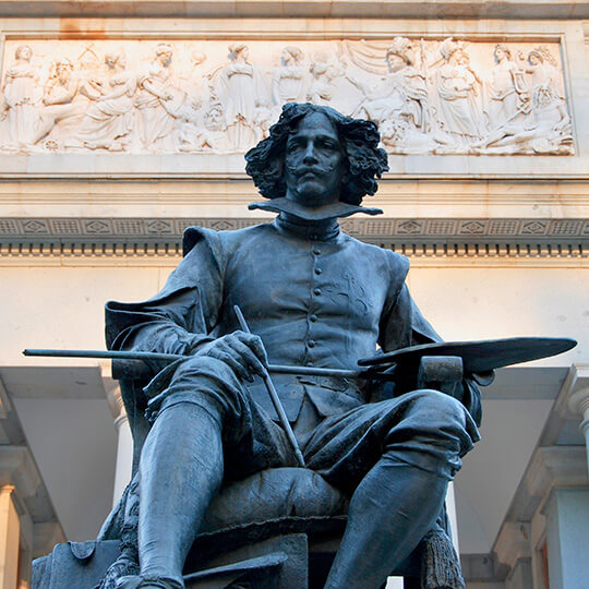 Statue of Velazquez outside the Prado Museum in Madrid