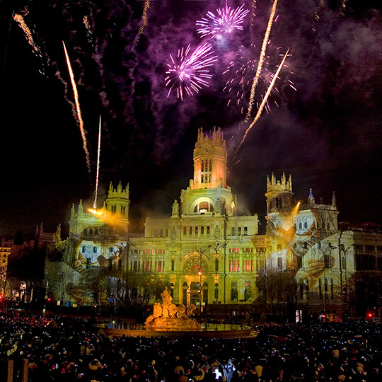 Fireworks in Madrid