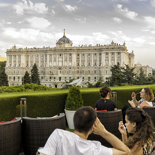 Royal Palace from the terrace of Sabatini